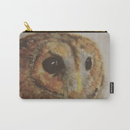Watercolor Tawny Owl Painting Carry-All Pouch