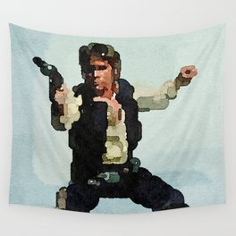 Solo Shot First (Abstract Watercolor) Wall Tapestry
