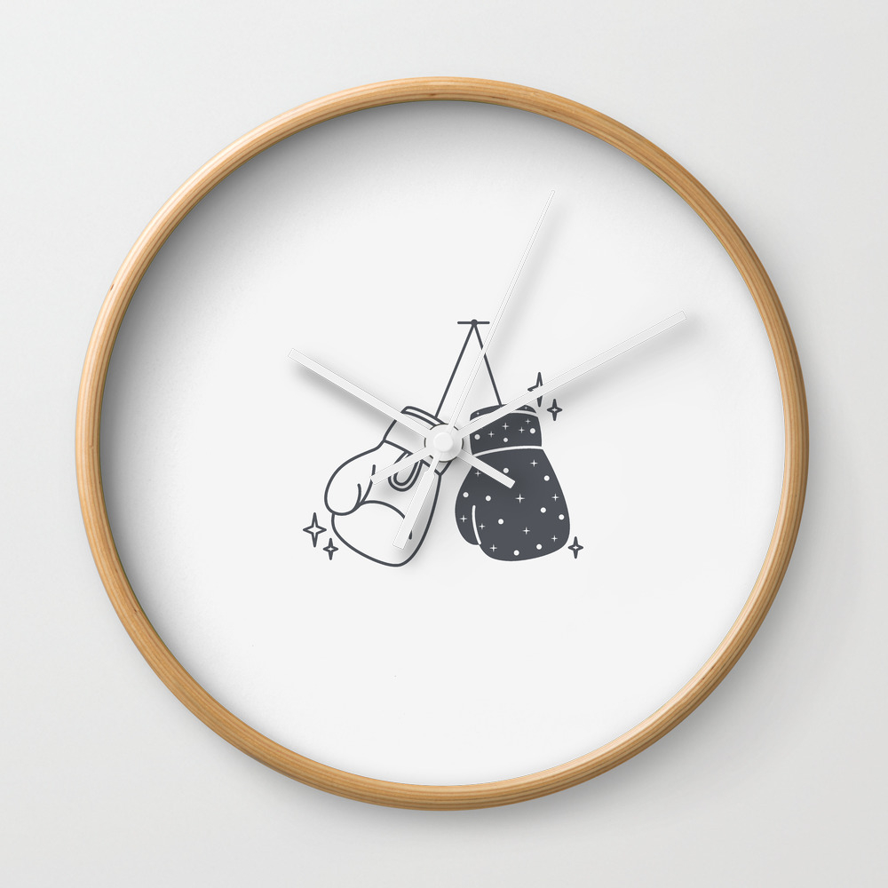 Boxing Gloves Night And Day Wall Clock by Roc21 CLK8557888