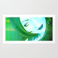 cyberpunk Art Prints featuring Cyberpunk by Sandra Höfer