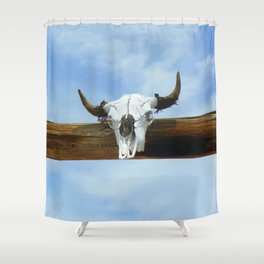 Blue Sky and the Bull Shower Curtain