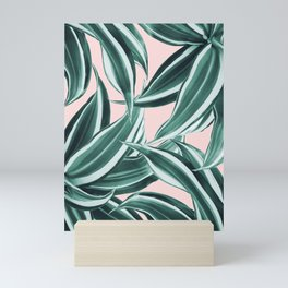 Dracaena Tropical Leaves Pattern #1 #tropical #decor #art #society6 Mini Art Print