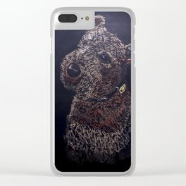 Best Therapy has fur & 4 legs Clear iPhone Case