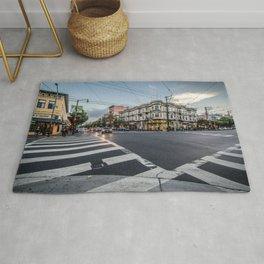city street crossing Rug