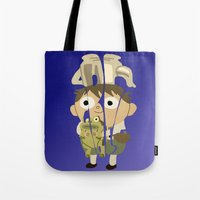 greg guillemin Tote Bags featuring Greg by pokegirl93