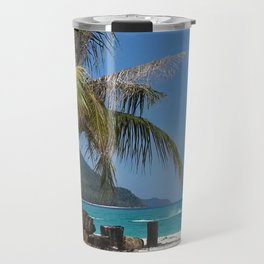 Speeding behind a palm tree Travel Mug