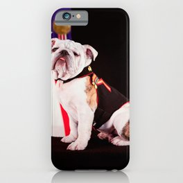 Bulldog Navy Official Mascot Dog iPhone Case