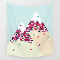 twin peaks Wall Tapestries featuring Twin Peaks by Attitude Creative