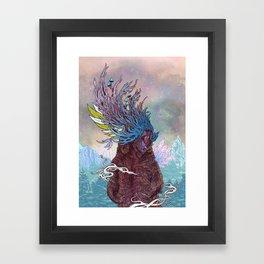 Journeying Spirit (Bear) Framed Art Print
