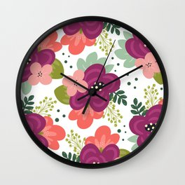 Blooming Florals Wall Clock