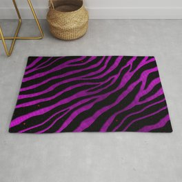 Ripped SpaceTime Stripes - Pink/Purple Rug