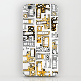 Tetris monsters yellow and grey iPhone Skin