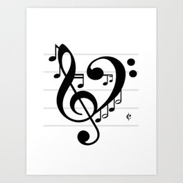 Love Music II Art Print