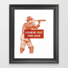 Looking out for love Framed Art Print