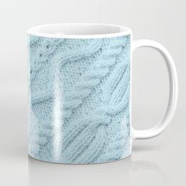 Pale Teal Cableknit Coffee Mug