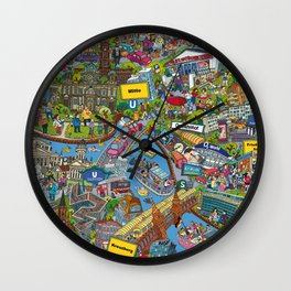 Illustrated map of Berlin Wall Clock