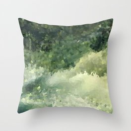 The green background .Storm . Throw Pillow