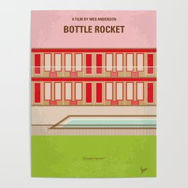 No855 My Bottle Rocket minimal movie poster Poster
