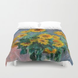 Bouquet of Sunflowers - Claude Monet Duvet Cover