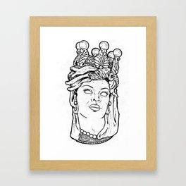 testa di mora Framed Art Print