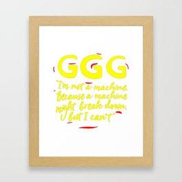 GGG Framed Art Print