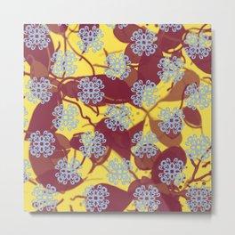 Spring Symmetry Filigree Floral Art Graphic Print Metal Print