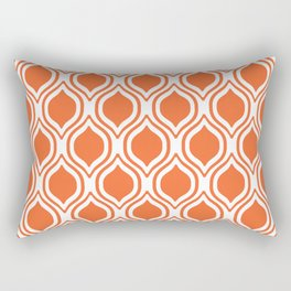 University sports clemson purple and white ogee pattern minimal college football fan Rectangular Pillow