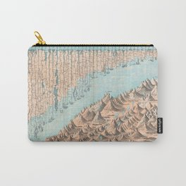 Chart of the World's Mountains and Rivers - Geographicus Carry-All Pouch