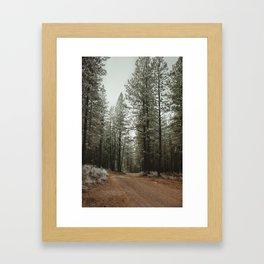 Take the Road Less Traveled Framed Art Print