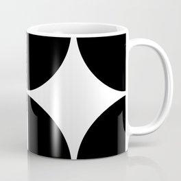 Mid Century Modern Black Square Coffee Mug