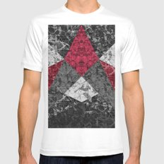 Marble Geometric Background G431 MEDIUM White Mens Fitted Tee
