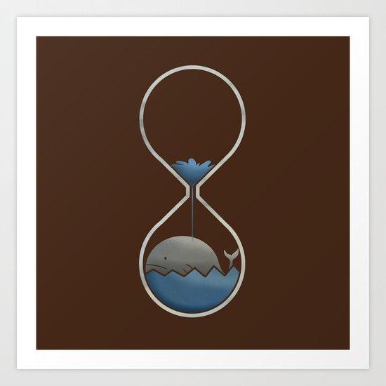 whale hourglass Art Print
