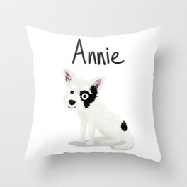 "Custom Artwork, ""Annie"" Throw Pillow"