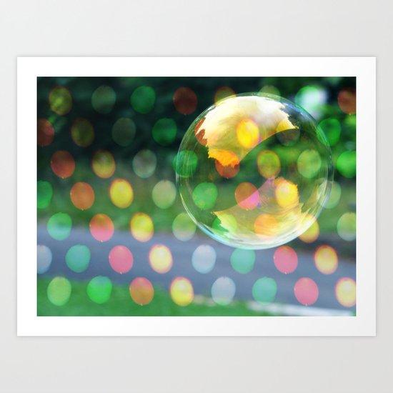 Dots and Bubbles Art Print