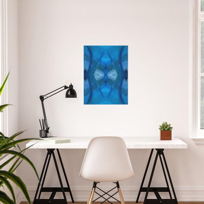 Pattern III Blue Poster