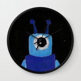 Little Blue Monster Painting Wall Clock