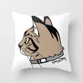 KittyKitty Throw Pillow