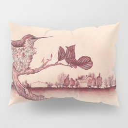 Nested Hummingbird Pillow Sham