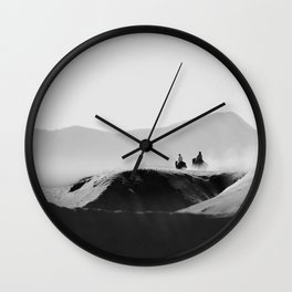 Two Riders Wall Clock