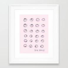 Eye Roll Framed Art Print