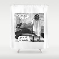 conan Shower Curtains featuring Cromic #3 - True Adventure! by Portable City Illustration