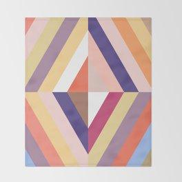 Retro Rhombus Throw Blanket