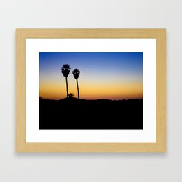 Hopped off the plane at LAX Framed Art Print