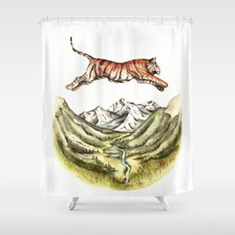 Tiger Leaping Gorge Shower Curtain