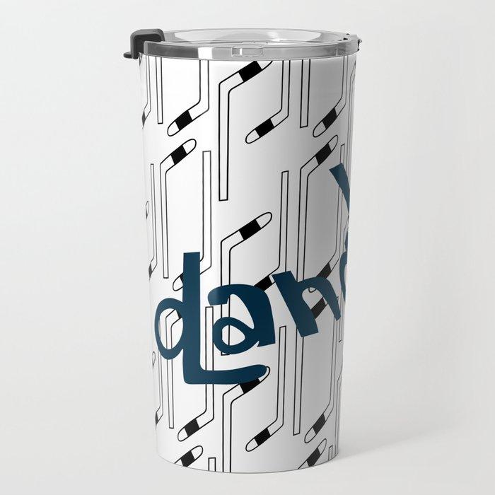 Hockey Stick Pattern Travel Mug
