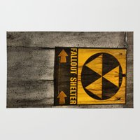 fallout Area & Throw Rugs featuring Fallout Shelter by Julie Maxwell