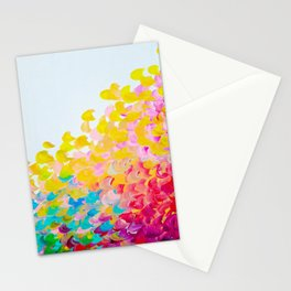 CREATION IN COLOR - Vibrant Bright Bold Colorful Abstract Painting Cheerful Fun Ocean Autumn Waves Stationery Cards