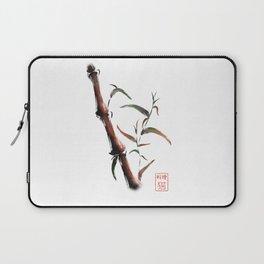 Bamboo on white background Laptop Sleeve