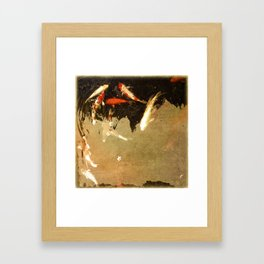 Thirteen Koi Fishes Framed Art Print