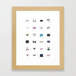 Underwear Framed Art Print